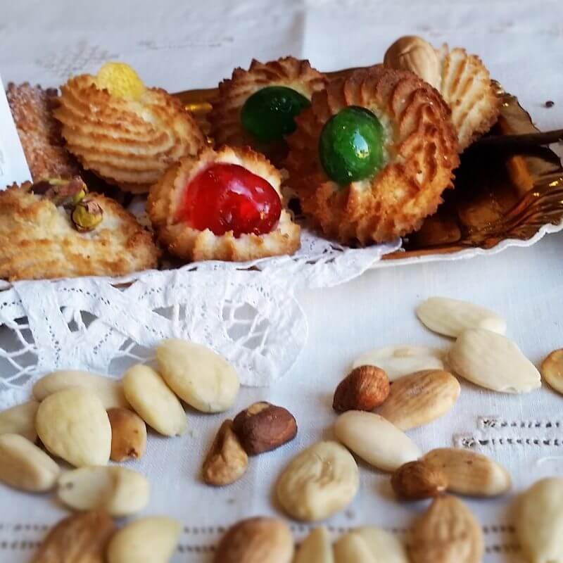Biscotti dessert di mandorle siciliane