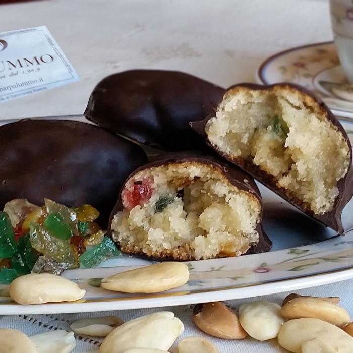Paste di mandorla siciliane al cioccolato